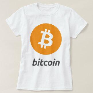 Bitcoin logotyp med text tee shirt