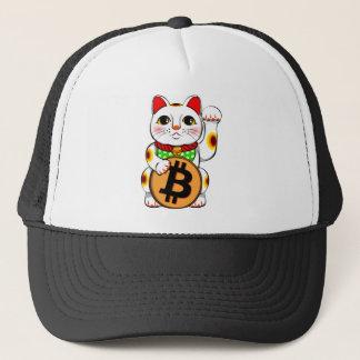 Bitcoin Maneki Neko lycklig katt 01 Truckerkeps