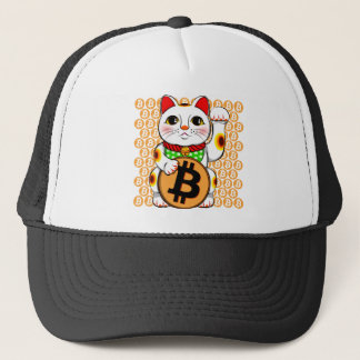 Bitcoin Maneki Neko lycklig katt 04 Keps