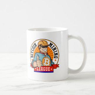 Bitcoin som bryter ligamuggen kaffemugg