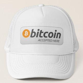 Bitcoin - som här accepteras keps