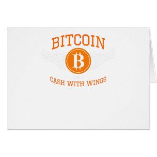 Bitcoin vingar hälsningskort