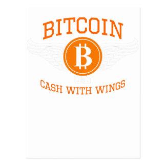 Bitcoin vingar vykort