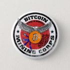 Bitcoinen som bryter kår - sandig version standard knapp rund 5.7 cm