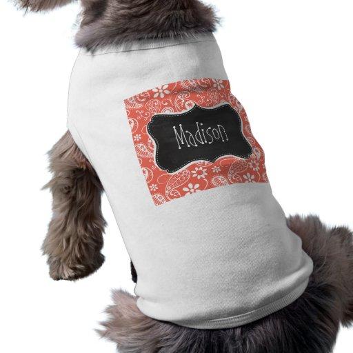 Bittersöt färg Paisley; Retro svart tavla Hund T-shirts