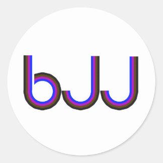 BJJ - Brasilianska Jiu Jitsu - färgadbrev Runt Klistermärke