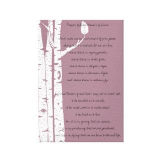 Björkträd med bönen canvastryck