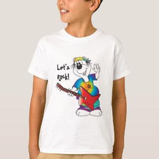 Björn för Hippietecknadgitarr Tee Shirt
