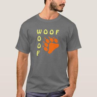 Björn för Woof för dubbla för blåttbjörntass glad Tröjor