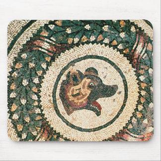 Björn huvud, romersk mosaik, 4th århundrade för ti musmatta