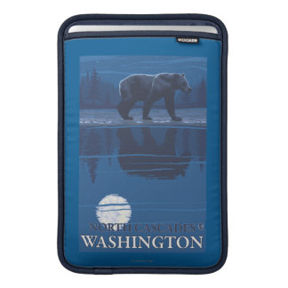 Björn i månsken - norr kaskader, Washington MacBook Sleeve