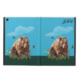 Björn och fjärilar, anpassadeMonogram iPad Air Skydd