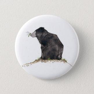 Björn och slända standard knapp rund 5.7 cm