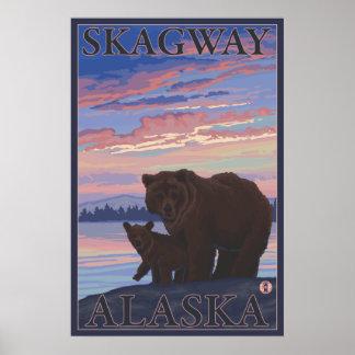 Björn och unge - Skagway, Alaska Poster