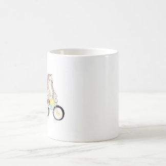 björn på cykeln kaffemugg