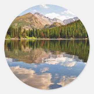 Björn sjö. Colorado. Runt Klistermärke