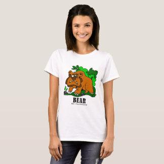 Björn vid Lorenzo kvinna T-tröja T Shirts