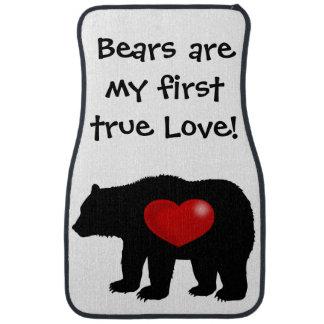 Björnar är mitt första äkta kärlek! bilmatta