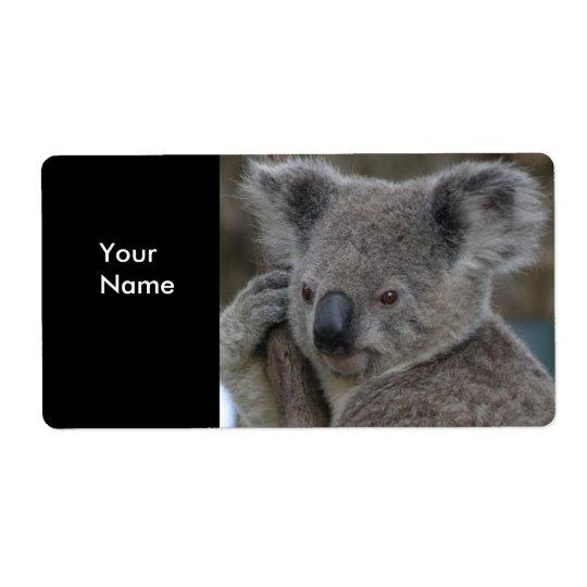Björnar för Koala för etikettadressklistermärkear Fraktsedel