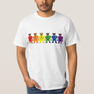 Björnar för regnbågepridetoppen t shirts