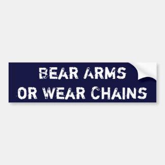 Björnärmar eller bära kedjar bildekal