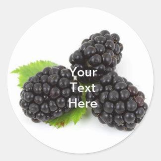 Björnbärsyltetikett Runda Klistermärken