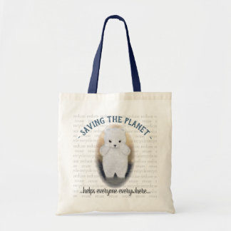 BjörnEco för ledsen baby polar design Tygkasse