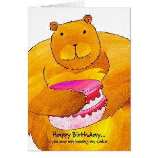 Björnfödelsedagkort Hälsningskort