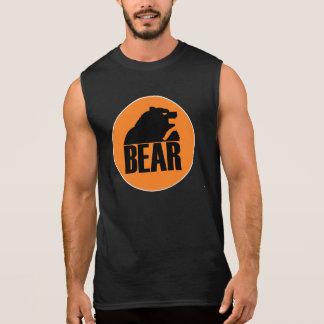 Björnorangen för H S cirklar (svarten) Sleeveless Tröja