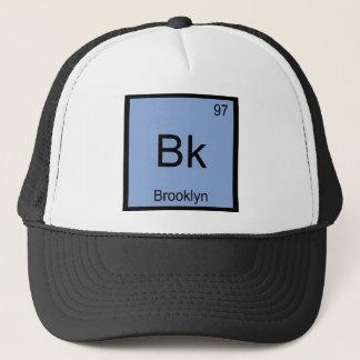 Bk - symbol New York T för Brooklyn kemiinslag Truckerkeps
