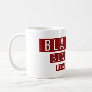 Bla Bla röda Bla Kaffemugg
