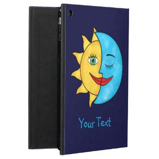 Blå himmel för strålar för solmåne sol- iPad air skal