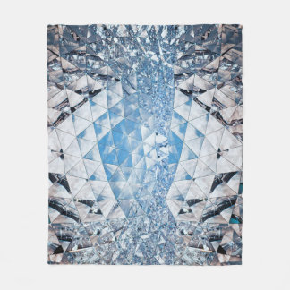 Blå himmel i cristals fleecefilt