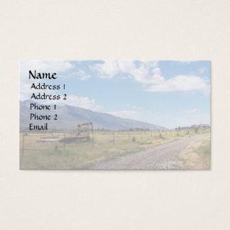 Blå himmel över ranchvägen visitkort