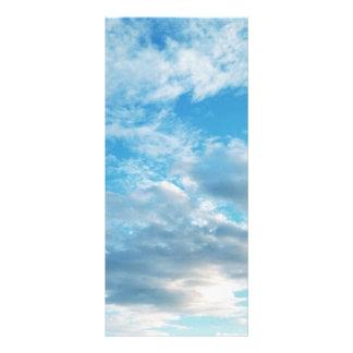 """Blå himmel Themed 4"""" x 9"""" Rackcard Rackkort Med Full Färg"""