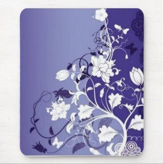 blåa blommor blåa blommor musmatta