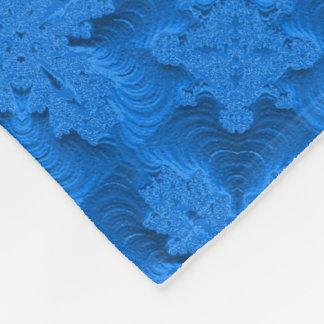 Blåa blommor i 3D, Artdeco Fleecefilt