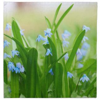 Blåa blommor tygservett