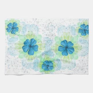 Blåa blommoramerikanMoJo handdukar