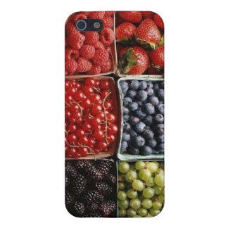 blåbär för bärhallonjordgubbe iPhone 5 skal