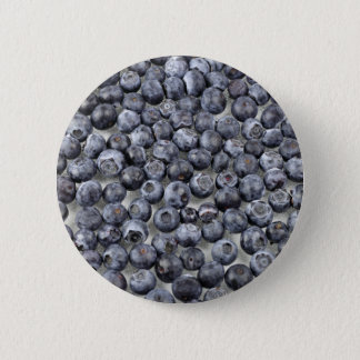 Blåbär på exponeringsglas standard knapp rund 5.7 cm