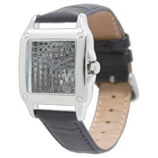 Bläck & ekar I-kvinna den svart klockan för läder Armbandsur