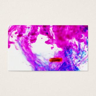 Bläck för rosagultblått tappar konstfotografi visitkort