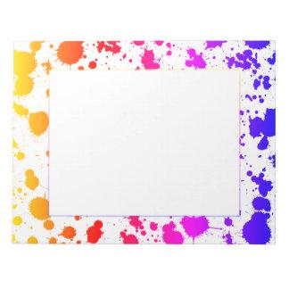 Bläck målar den färgrika ljusa regnbågen för anteckningsblock