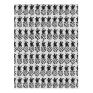 Black&white ananas vykort