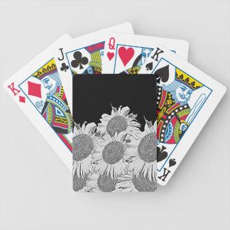 Black&White solrosor Spelkort