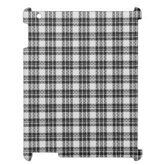 Black&white Tartan iPad Mobil Skydd