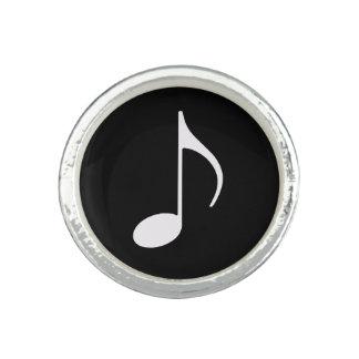 blackandwhite musik noterar ring