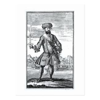 Blackbeard piraten, från 'en allmän historia av vykort