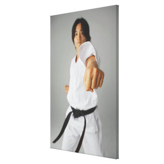 Blackbelt slå canvastryck